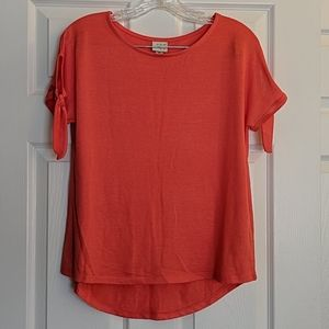 A New Day Coral Knit Top XS